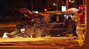 night car crash